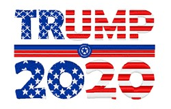 Trump 2020 Flag embroidery design