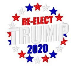 Re-Elect Trump 2020 embroidery design