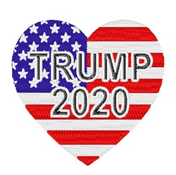 Trump 2020 Heart embroidery design