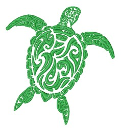 Decorative Turtle Outline embroidery design