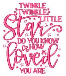 Twinkle Twinkle Little Star embroidery design