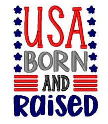 USA Born & Raised embroidery design