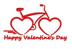 Bicycle Of Love embroidery design