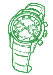 Chronometer Watch Outline embroidery design