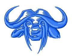 Yak Head Outline embroidery design