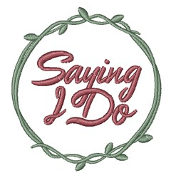 Saying I Do embroidery design