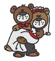 Teddy Bear Wedding Couple embroidery design