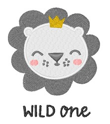 Wild One Lion embroidery design
