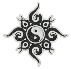 Tribal Yin Yang embroidery design