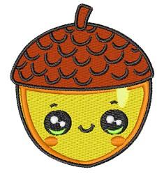 Cartoon Acorn embroidery design