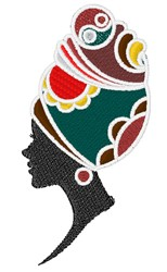 African Woman embroidery design
