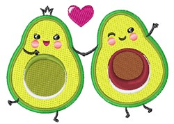 Love Avocados embroidery design