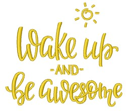 Be Awesome embroidery design