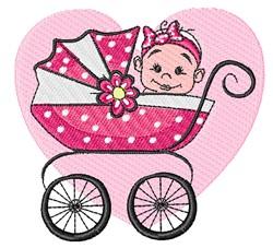 Baby Buggy Girl embroidery design