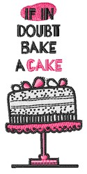 Bake A Cake embroidery design