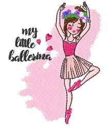 My Little Ballerina embroidery design