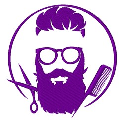 Barber Logo embroidery design