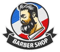 Barber Shop embroidery design