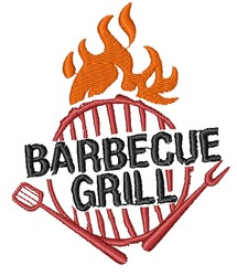 Barbecue Grill embroidery design
