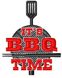 Its BBQ Time embroidery design