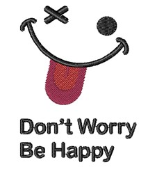 Dont Worry embroidery design