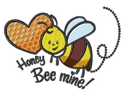 Honey Bee Mine embroidery design