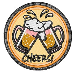 Beer Cheers embroidery design