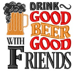 Drink Good Beer embroidery design