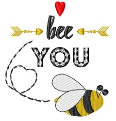 Bee You embroidery design