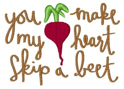 Skip A Beet embroidery design