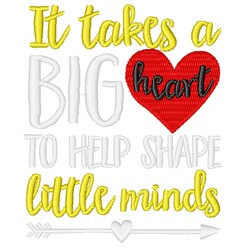 A Big Heart embroidery design
