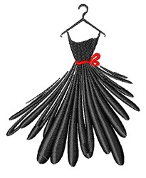 Dress On Hanger embroidery design