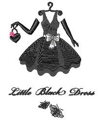 Little Black Dress embroidery design