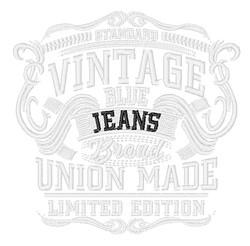 Vintage Blue Jeans embroidery design