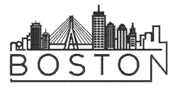Boston embroidery design