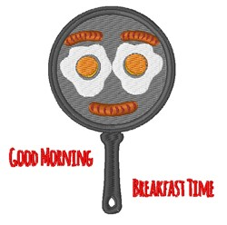 Breakfast Time embroidery design