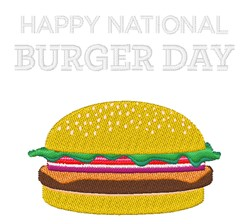 National Burger Day embroidery design