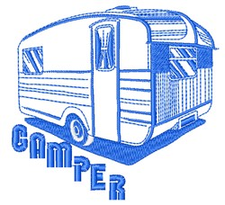 Camper embroidery design