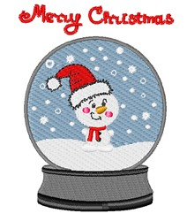 Christmas Snowglobe embroidery design