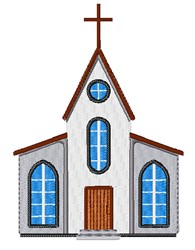 Church Building embroidery design