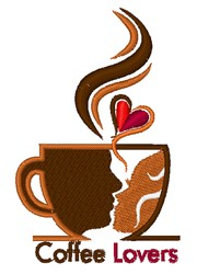 Coffee Lovers embroidery design