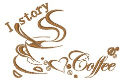 I Story Coffee embroidery design