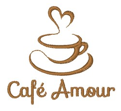 Cafe Amour embroidery design