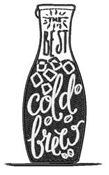 Cold Brew embroidery design