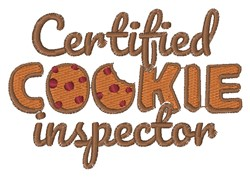 Cookie Inspector embroidery design