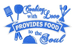 Food To The Soul embroidery design