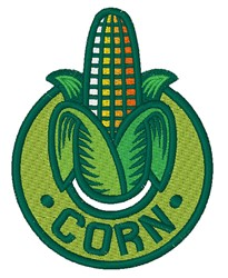 Corn Logo embroidery design