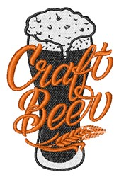 Craft Beer embroidery design