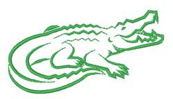Alligator Outline embroidery design