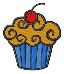 Cherry Cupcake embroidery design